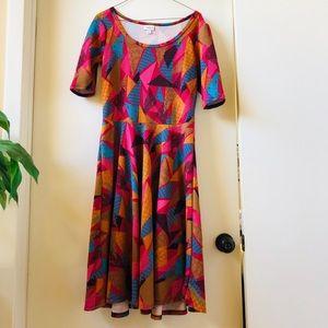 Abstract geometric Nicole dress